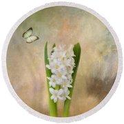 Spring Hyacinth Round Beach Towel