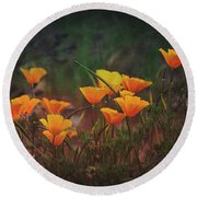 Spring In A Poppin' Round Beach Towel