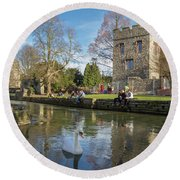 Spring In Canterbury Round Beach Towel