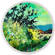 spring in Ciergnon Round Beach Towel