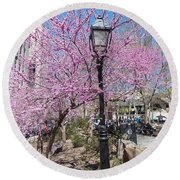 Spring In  Columbus Park 1 Round Beach Towel