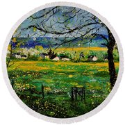 Spring In Herock Round Beach Towel