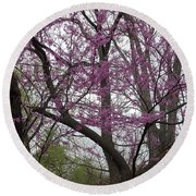 Spring In Indiana Round Beach Towel by Colleen Cornelius