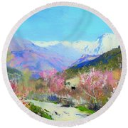 Spring In Italy Round Beach Towel