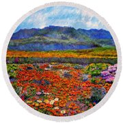 Spring In Namaqualand Round Beach Towel