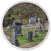 Spring In Oak Hill Cemetery #4 Round Beach Towel