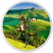 Spring In The Field 1 Round Beach Towel
