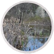Spring In The Wetlands Round Beach Towel