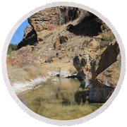 Spring In Vogel Canyon Round Beach Towel