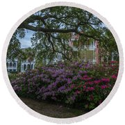 Spring In White Point Gardens Round Beach Towel