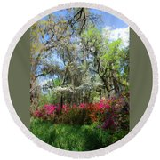 Spring Is All Over Round Beach Towel
