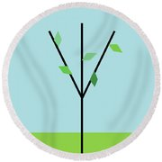 Spring Is Comming Round Beach Towel