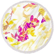 Spring Light Abstract Round Beach Towel