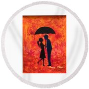 Sizzling Love Round Beach Towel