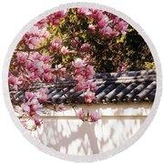 Spring - Magnolia Round Beach Towel