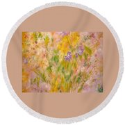 Spring Meadow Round Beach Towel