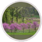 Spring Melody Round Beach Towel