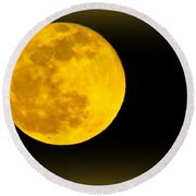 Spring Moon Rising Round Beach Towel