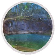 Spring Of The Summer Sky Round Beach Towel