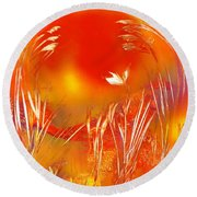 Spring On The Red Planet Round Beach Towel