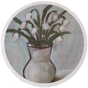 Spring On The Table Round Beach Towel