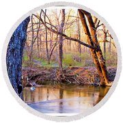 Spring, Pennypack Creek, Pennsylvania Round Beach Towel