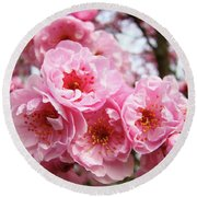 Spring Pink Tree Blossoms Art Prints Baslee Troutman Round Beach Towel