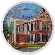 Spring Planting At The Dahlonega Gold Museum Round Beach Towel