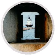 Spring Point Ledge Round Beach Towel