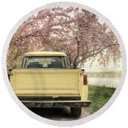 Spring Scenery Round Beach Towel