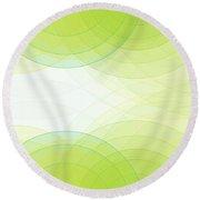Spring Semi Circle Background Horizontal Round Beach Towel