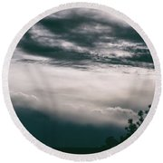 Spring Storm Cloudscape Round Beach Towel