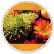 Spring/summer Bouquet - Flowers Round Beach Towel