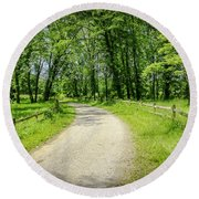 Spring Time In Rural Ohio Round Beach Towel