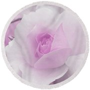 Spring Time With Lavender Rose Round Beach Towel