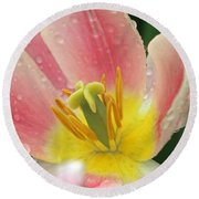 Spring Tulips 154 Round Beach Towel
