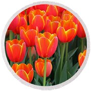 Spring Tulips 207 Round Beach Towel