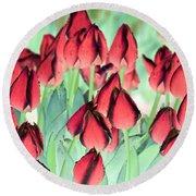 Spring Tulips - Photopower 3012 Round Beach Towel