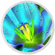 Spring Tulips - Photopower 3150 Round Beach Towel