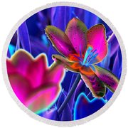 Spring Tulips - Photopower 3151 Round Beach Towel