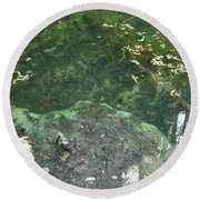 Spring Water At The Grotto Round Beach Towel