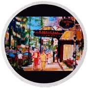Springtime At The Ritz Round Beach Towel
