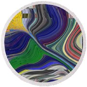 Springtime Delight Round Beach Towel