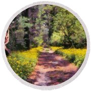Springtime In Astroni National Park In Italy Round Beach Towel
