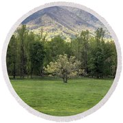 Springtime In Cades Cove Great Smoky Mountains National Park Round Beach Towel