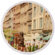 Springtime In Halifax Round Beach Towel
