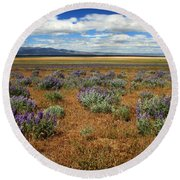 Springtime In Honey Lake Valley Round Beach Towel