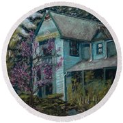 Springtime In Old Town Round Beach Towel by Mary Benke