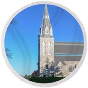 Springtime In Radnor - Villanova University Round Beach Towel