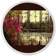 Springtime In The Swamp Round Beach Towel